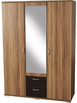 Hollywood 3 Door 2 Drawer Mirrored Wardrobe