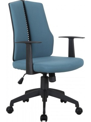 Computer Chair in Blue Fabric