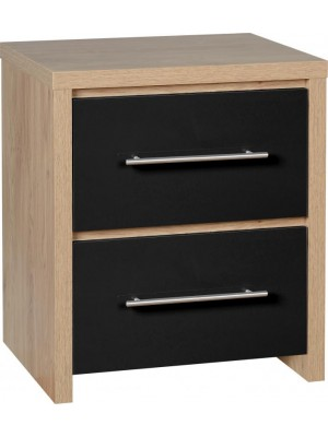 Seville 2 Drawer Bedside Chest