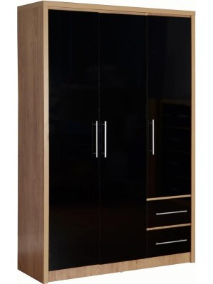Seville 3 Door 2 Drawer Wardrobe