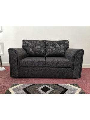 Memphis Sofa Set        (Dundee Black / Floral Back)
