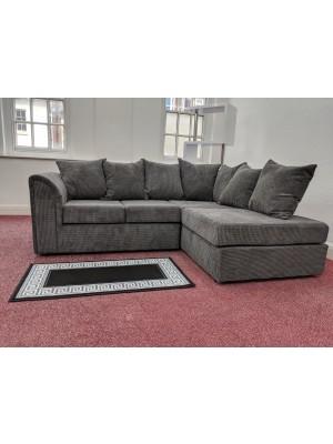 Houston Corner Sofa Set (Grey Brick Cord)