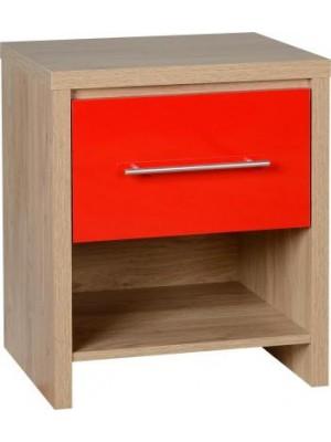 Seville 1 Drawer Bedside Cabinet