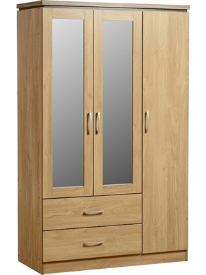 Charles 3 Door 2 Drawer Mirrored Wardrobe