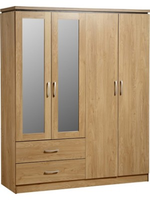 Charles 4 Door 2 Drawer Mirrored Wardrobe