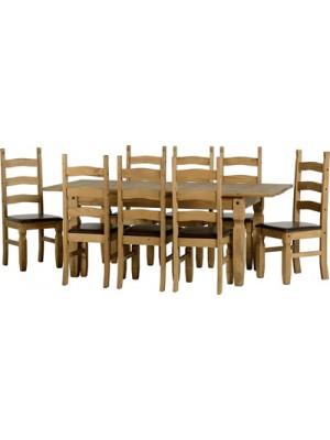 Corona Extending Dining Set (1+8)