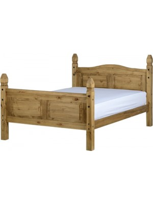 "Corona 4'6"" Bed High Foot End"