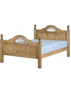 "Corona Scroll 4'6"" Bed High Foot End"