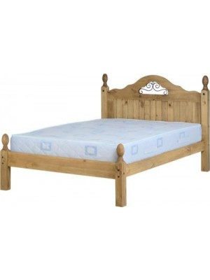 "Corona Scroll 4'6"" Bed Low Foot End"