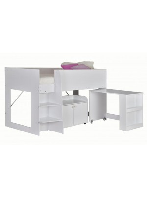 Astro Study Bunk in white