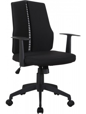 Computer Chair in Black Fabric