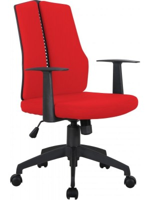 Computer Chair in Red Fabric
