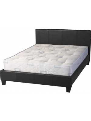 Prado 5' Bed In Black Faux Leather