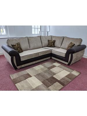 New York Corner Sofa Set (Mink Chenille)
