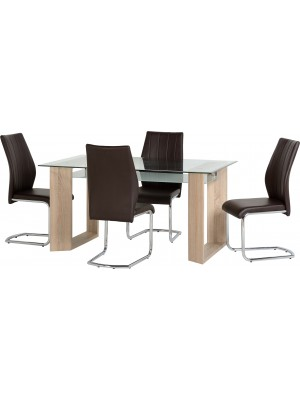 Milan 1+4 Dining Set