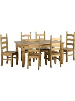 Corona Extending Dining Set (1+6)