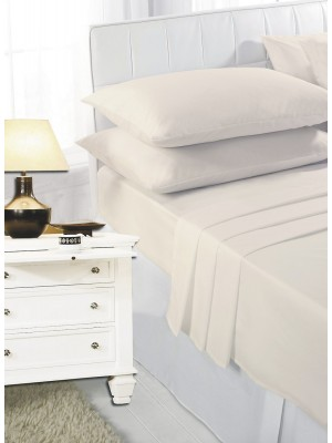 Easy care poly/cotton FITTED Sheet CREAM