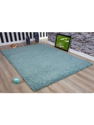 Oxford Shaggy Rug Duck egg