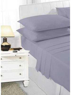 Easy care poly/cotton FITTED Sheet GREY
