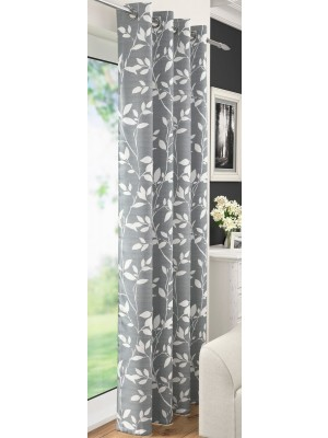 Laural Eyelet Voile Panel GREY