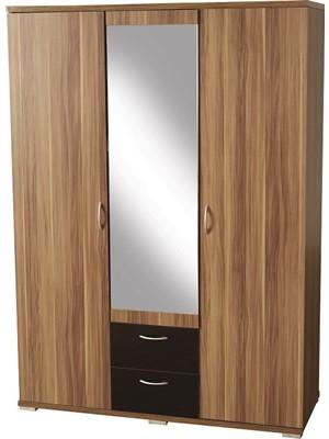 Hollywood 3 Door 2 Drawer Mirrored Wardrobe