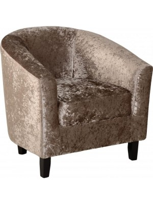 Hammond Tub Chair In Mink Crush Velvet