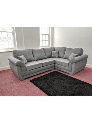 New York Corner Sofa (Dundee Silver)