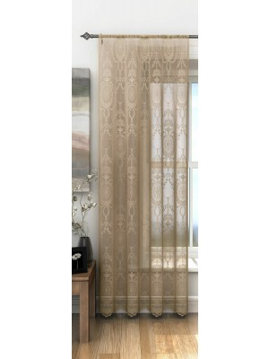 Holly Voile Panel LATTE