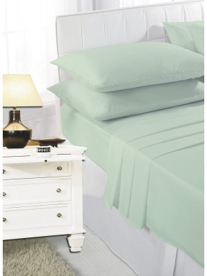 Easy care poly/cotton FITTED Sheet MINT