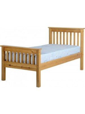 Monaco 3' Bed High Foot End in Antique Pine