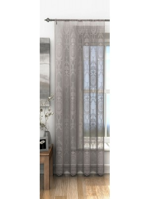 Holly Voile Panel PEWTER