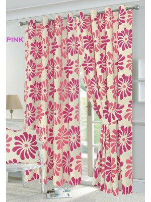 Petal Floral Curtains PINK