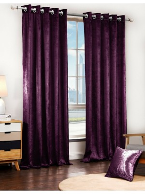 Faux Velvet Plain PLUM