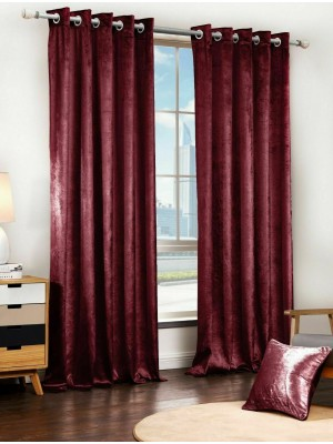 Faux Velvet Plain RED