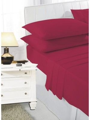 Easy care poly/cotton FLAT Sheet RED