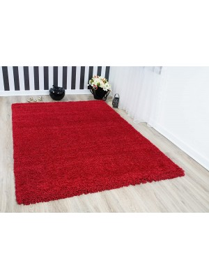Oxford Shaggy Rug Red