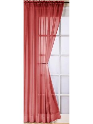 Trent Plain Voile Panel RED