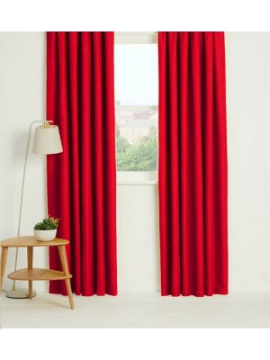 Thermal Plain Blackout Curtains RED