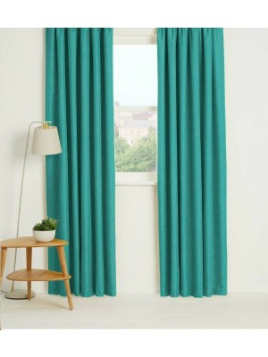 Thermal Plain Blackout Curtains TEAL