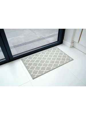 Gel Back Non-Slip Trellis Grey