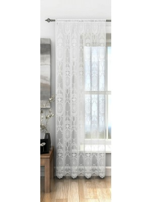Holly Voile Panel WHITE