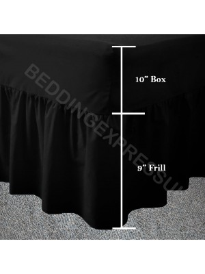 Easy care poly/cotton VALANCE Sheet BLACK