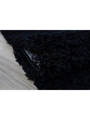 Oxford Shaggy Rug Black