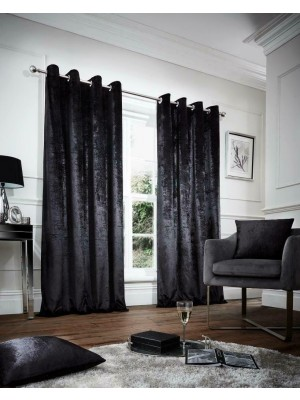 Faux Velvet Plain BLACK