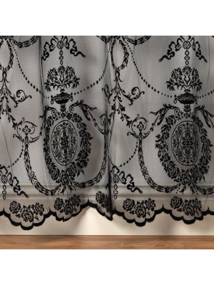 Holly Voile Panel BLACK