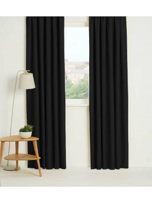 Thermal Plain Blackout Curtains BLACK