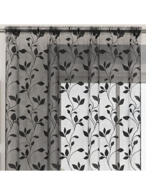 Evie Voile Panel BLACK