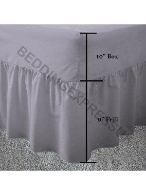 Easy care poly/cotton VALANCE Sheet GREY