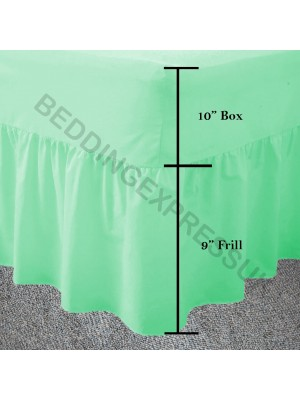Easy care poly/cotton VALANCE Sheet MINT