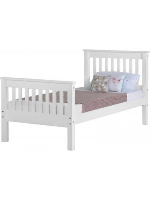 Monaco 3' Bed High Foot End in White